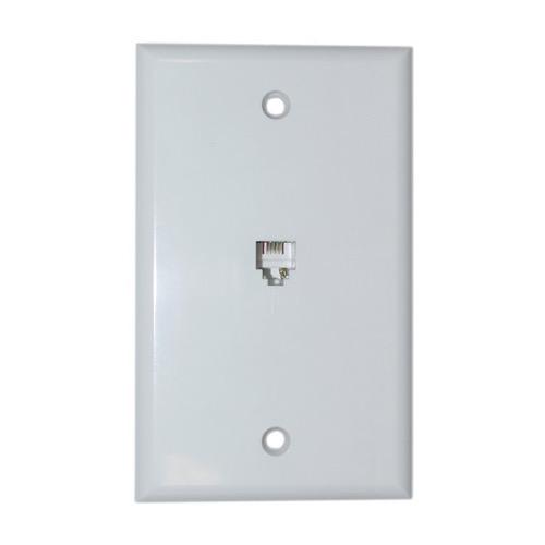 Packet Of 10 Wall Plate Flush Mount Jack 1 Modular 6p4c