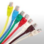 Cat5e patch cords with bubble boots
