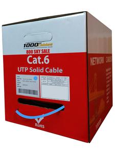 1000ftcat6 riser bare copper cable blue